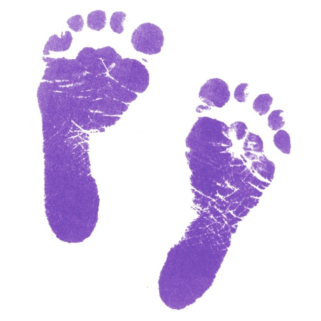 Image result for purple footprints